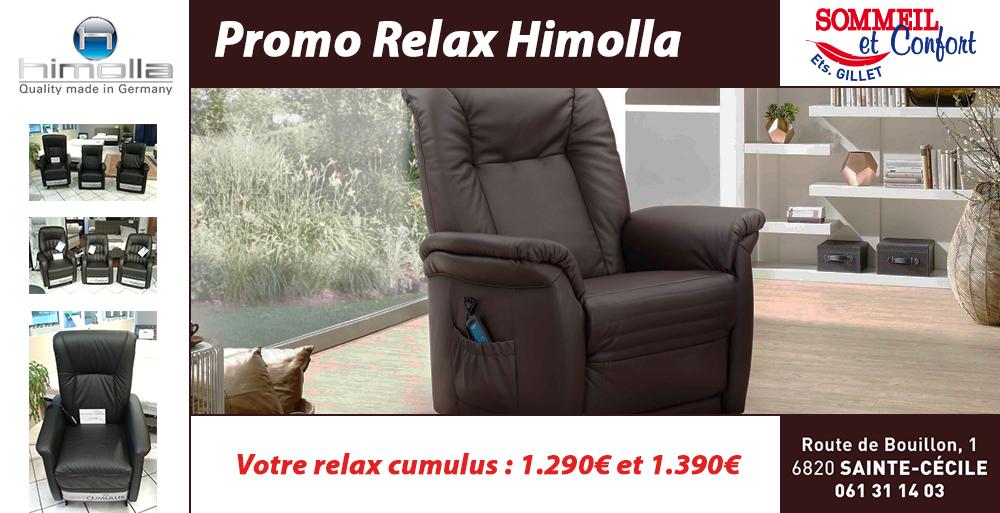 sommeil et confort promo relax himolla cumulus. Black Bedroom Furniture Sets. Home Design Ideas